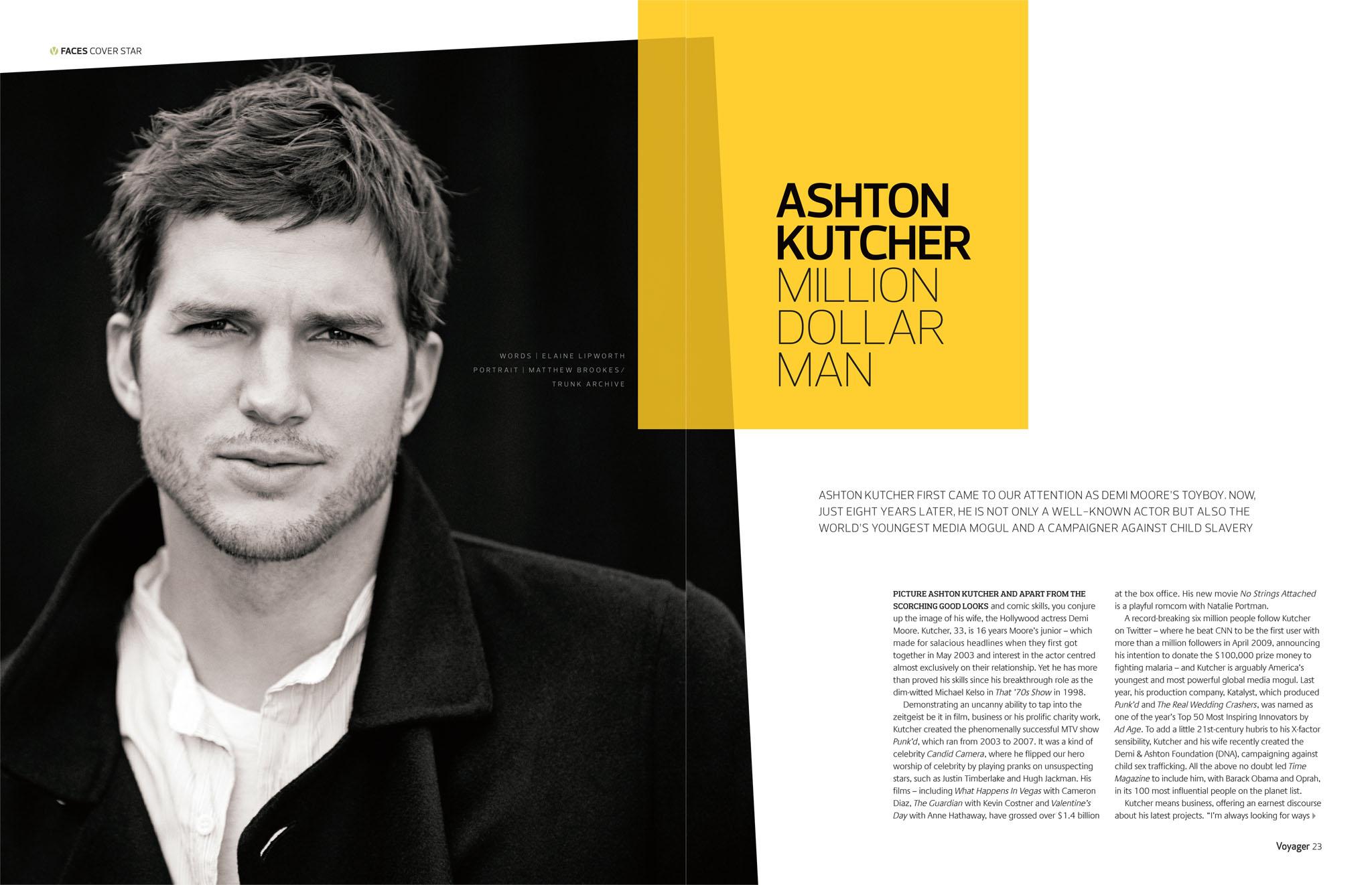 Ashton Kutcher, Million Dollar Man