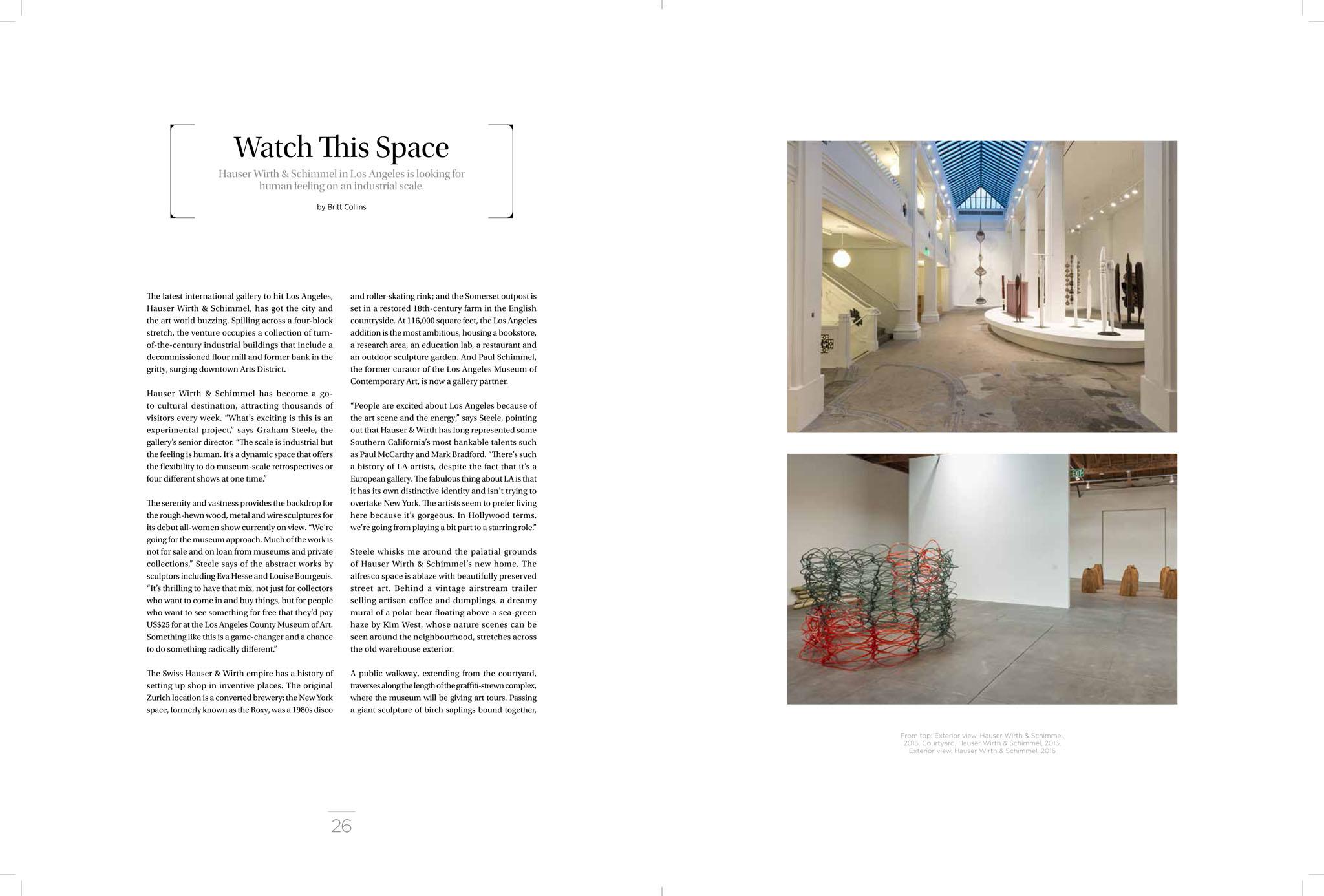 Watch This Space, Hauser & Wirth – Britt Collins